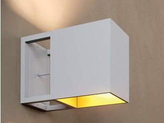 Arandela de alumínio SKINNER-BOX | Arandela - DARK AT NIGHT