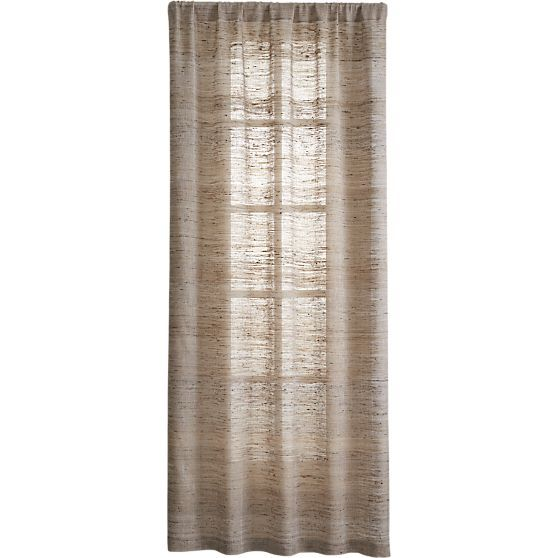 Hayden Silk Curtains | Crate and Barrel