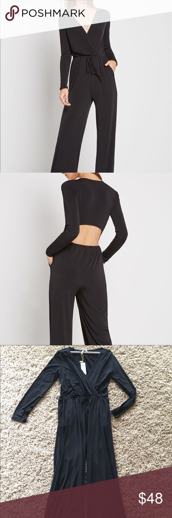 BCBP Surplice Jumpsuit This jumpsuit has never been worn. It's black, long sleeved and VERY comfortable. BCBGeneration Other