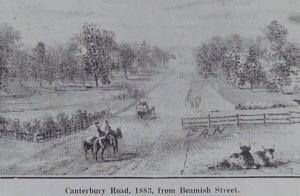 Canterbury Rd & Beamish St, Campsie, 1883. Known as Dan's Corner.