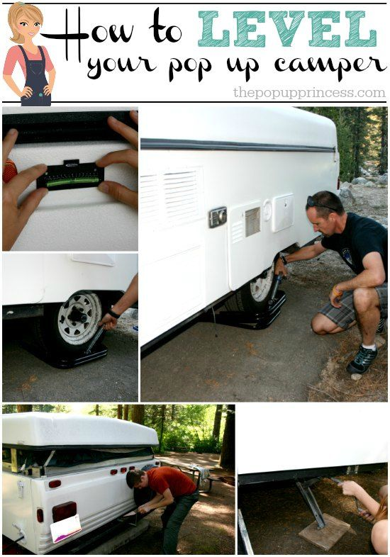 How We Level Our Pop Up Camper:  Good information on leveling and stabilizing your pop up camper.  This makes our set up and take down process a breeze!