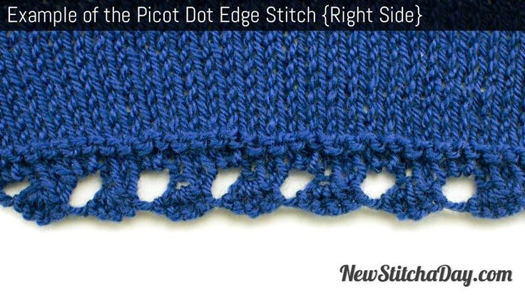 Knitting Edge Stitch Tutorial : Best images about knitting edges on pinterest french