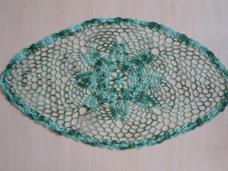 Handmade doilies (24 x 13 inch) (62 x 34cm) by Ela Mazek