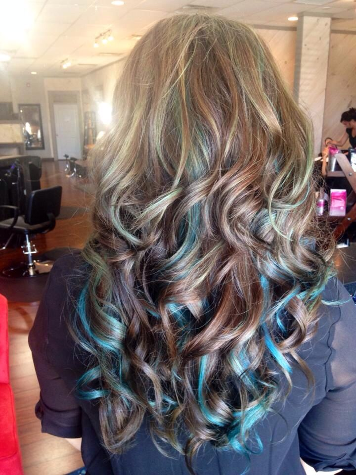 blue hair highlights ideas