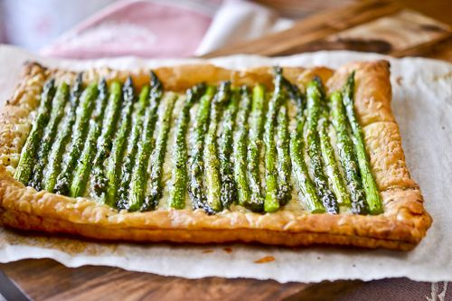 asparagus and gruyere tart | cooking | Pinterest