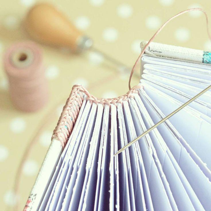 Endbands in progress... #bookbinding #handmade #bookarts #journal #album #sewing #notebook #handmadebook #etsy #babyalbum #photoalbum #weddingalbum #guestbook #bookbinder #endbands
