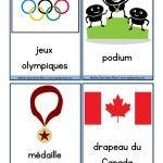 Olympic vocab. French freebie