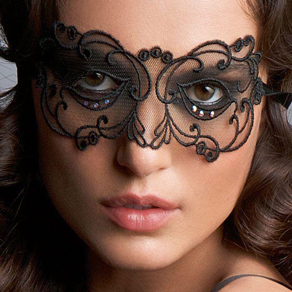 Lise Charmel Soir De Venise Maska Noir Diamant - piękna, koronkowa maska. Dostępna w rozmiarze one size, w cenie 119 zł w naszym sklepie. Zapraszamy!