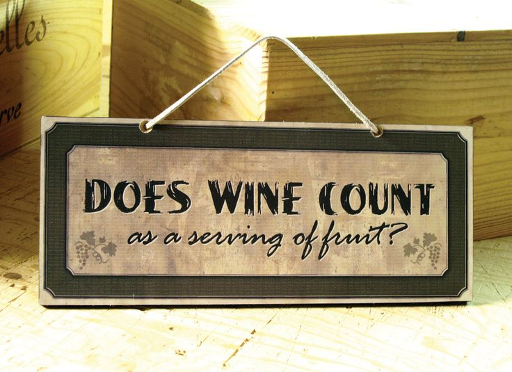 Decorative wall sign with funny wine saying wine sign for Kitchen quote signs