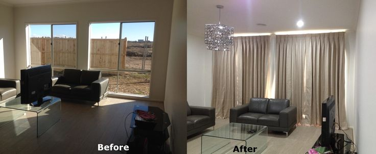 One of the completed work of curtains / drapes by Majestic Curtains & Blinds