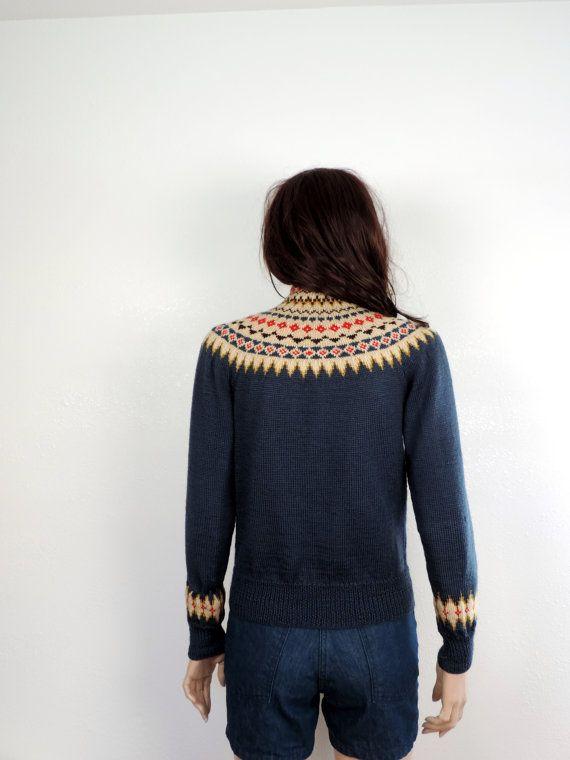 60s Norwegian Vintage Sweater 1960s William by poetryforjane
