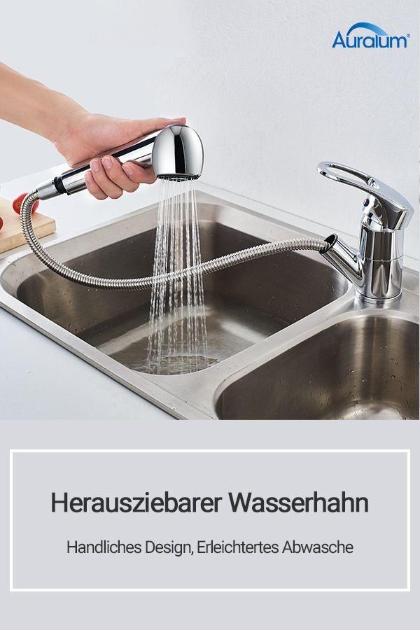 Herausziehbarer Wasserhahn Handliches Design Erleichtertes Abwasche Wasserhahn Kuche Coffee Maker Kitchen Appliances Espresso Machine