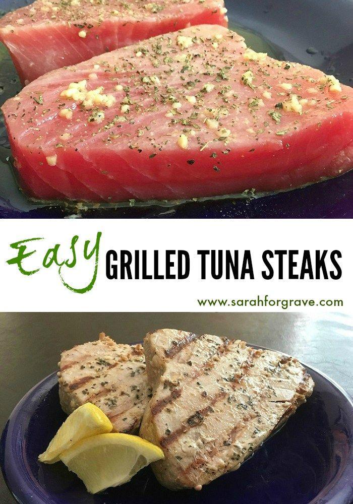 Easy Grilled Tuna Steaks | www.sarahforgrave.com