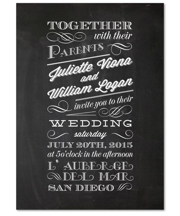 46 best janes wedding invite images on pinterest invitation ideas wedding invitation sample chalkboard by papela stopboris Gallery