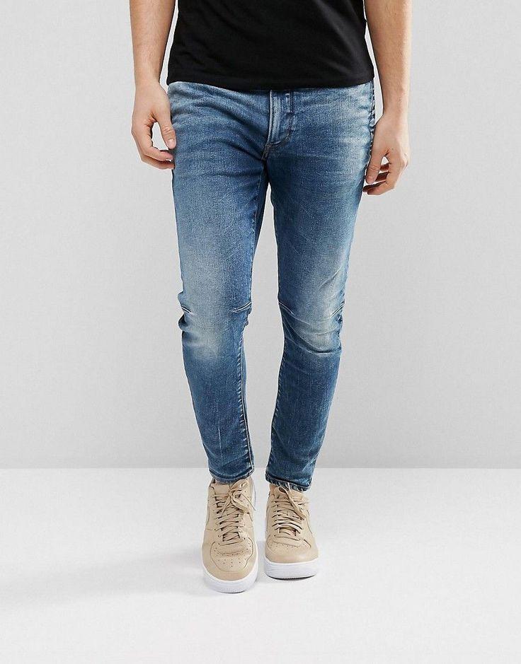 G-Star D-Staq 3D Super Slim Jeans Medium Aged - Blue
