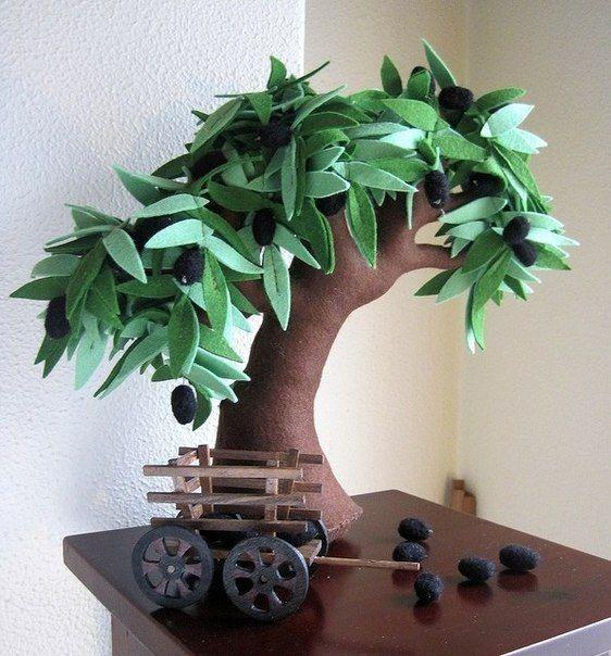 Eu Amo Artesanato: Árvore com molde