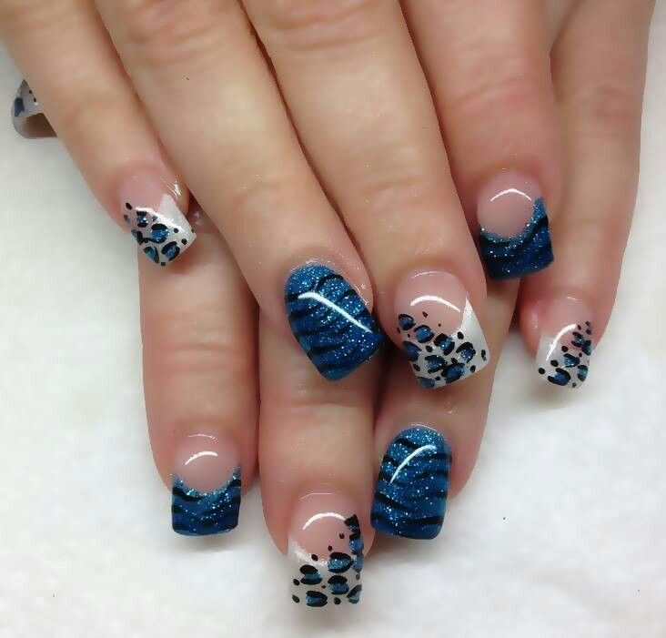 Blue French Tip Design