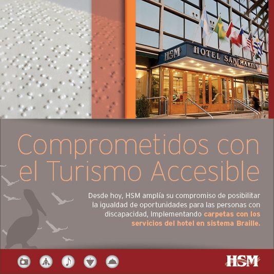 Una vez más #HSM forma parte de esta importante cruzada para fomentar el Turismo Accesible.  #Accesibilidad #Turismo #Chile #VinadelMar #ThisisChile #Braille #Discapacitados #TurismoAccesible #Hoteleria