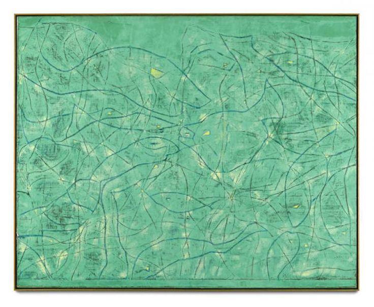"""topcat77: """"Max Ernst"""" Tremblement de terre printanier """", 1964 olio su tela"""""""