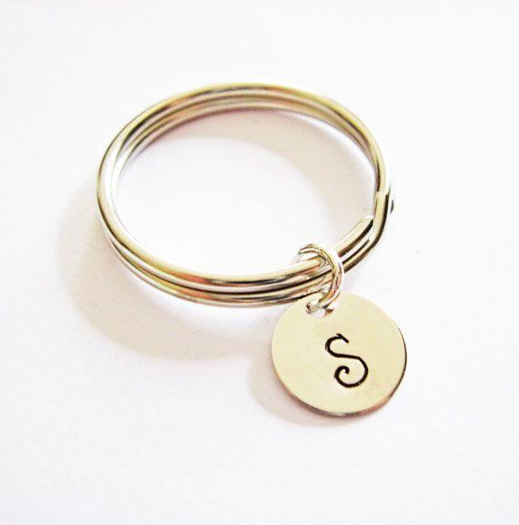Portachiavi iniziae personalizzabile, porta chiavi di RobertaValle su DaWanda.com