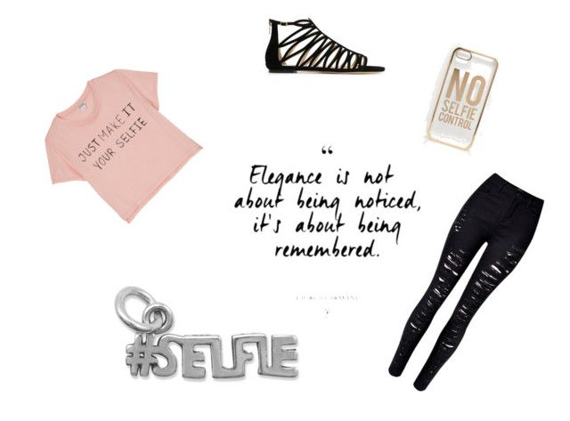 """""""Selfie time"""" by xxninapappalardoxx on Polyvore featuring Monki, ASOS, BillyTheTree, WithChic and Jimmy Choo"""
