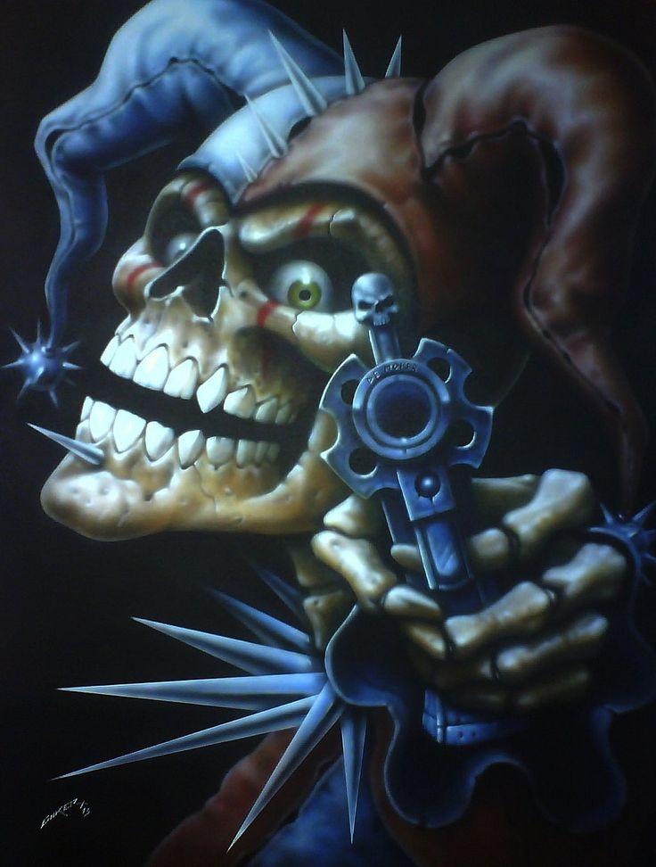 Skull Joker of death by ~linkerart on deviantART