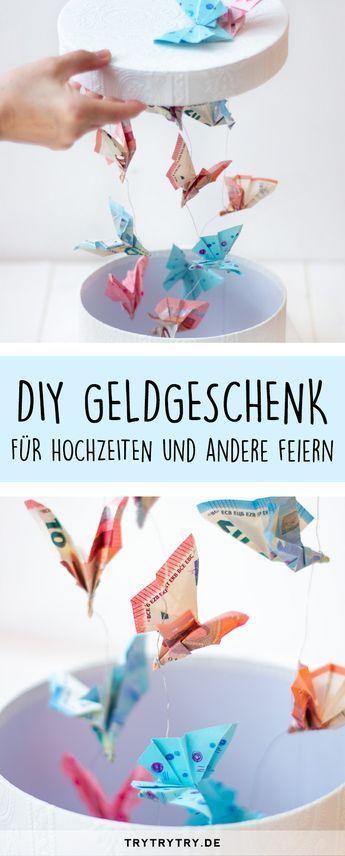 Geldgeschenk für Hochzeiten und andere Feste: Schmetterlinge fliegen im …   – Hochzeitsgeschenke ♡ Wohnklamotte