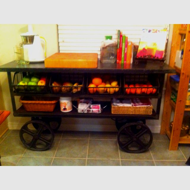My new juice bar. My husband got for me! It's an old trolly car!