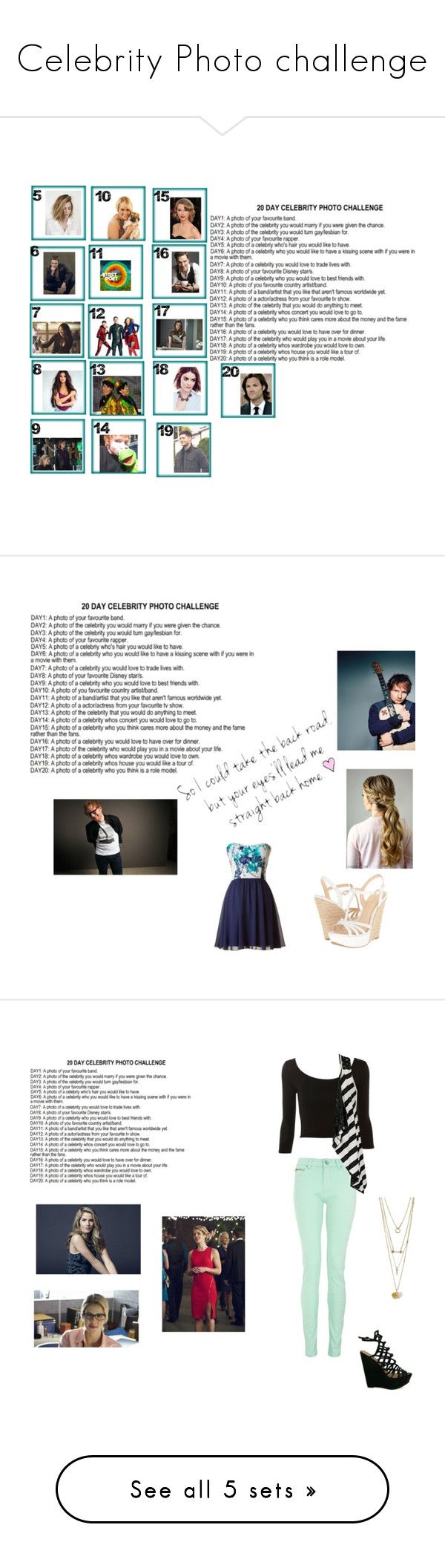"""""""Celebrity Photo challenge"""" by mercy-xix ❤ liked on Polyvore featuring art, Jessica Simpson, Quiz, Daytrip, Camille la Vie and Jimmy Choo"""