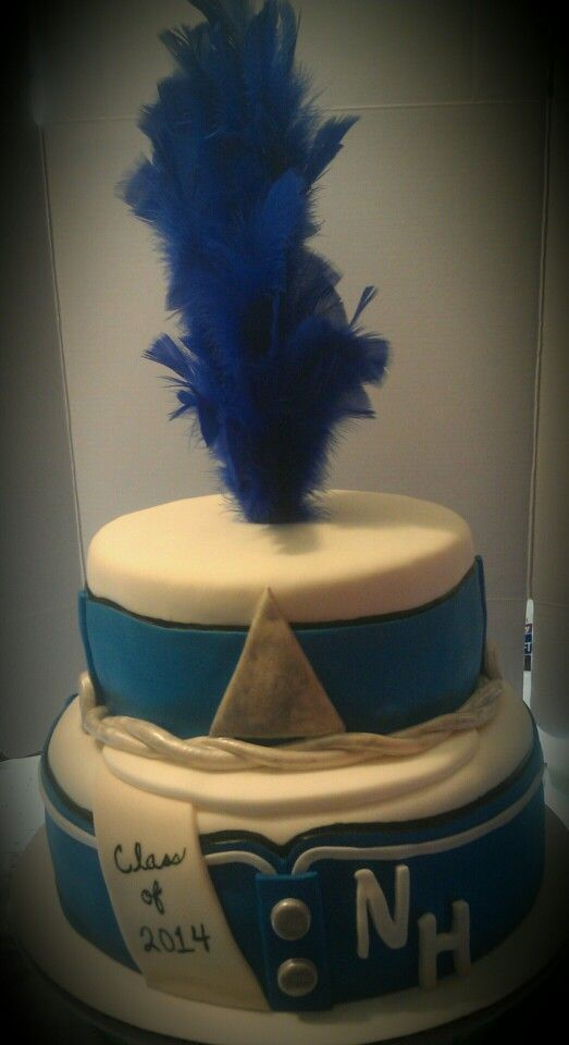 Marching Band theme graduation cake  #1