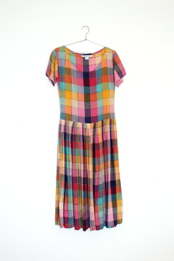 Norma Kamali Drop Waist Colorblock Dress - I had a dress in fabric like this when I was 5!