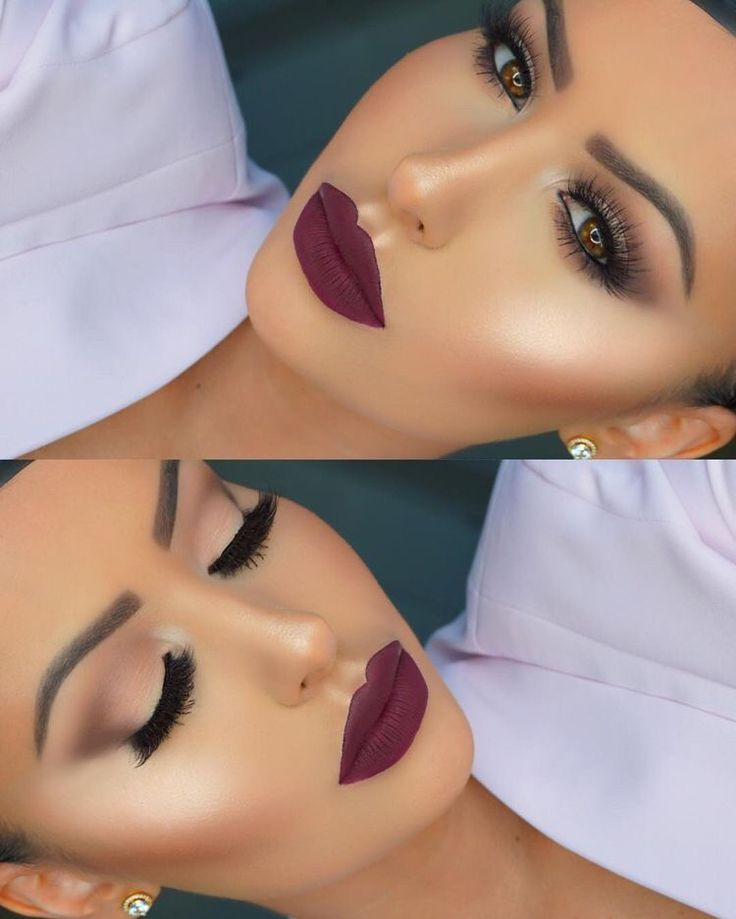 Amrezy Brown Crease makeup Bold Burgundy Lipstick INSTAGRAM: missy.diana.xo PINTEREST: itsmissydiana