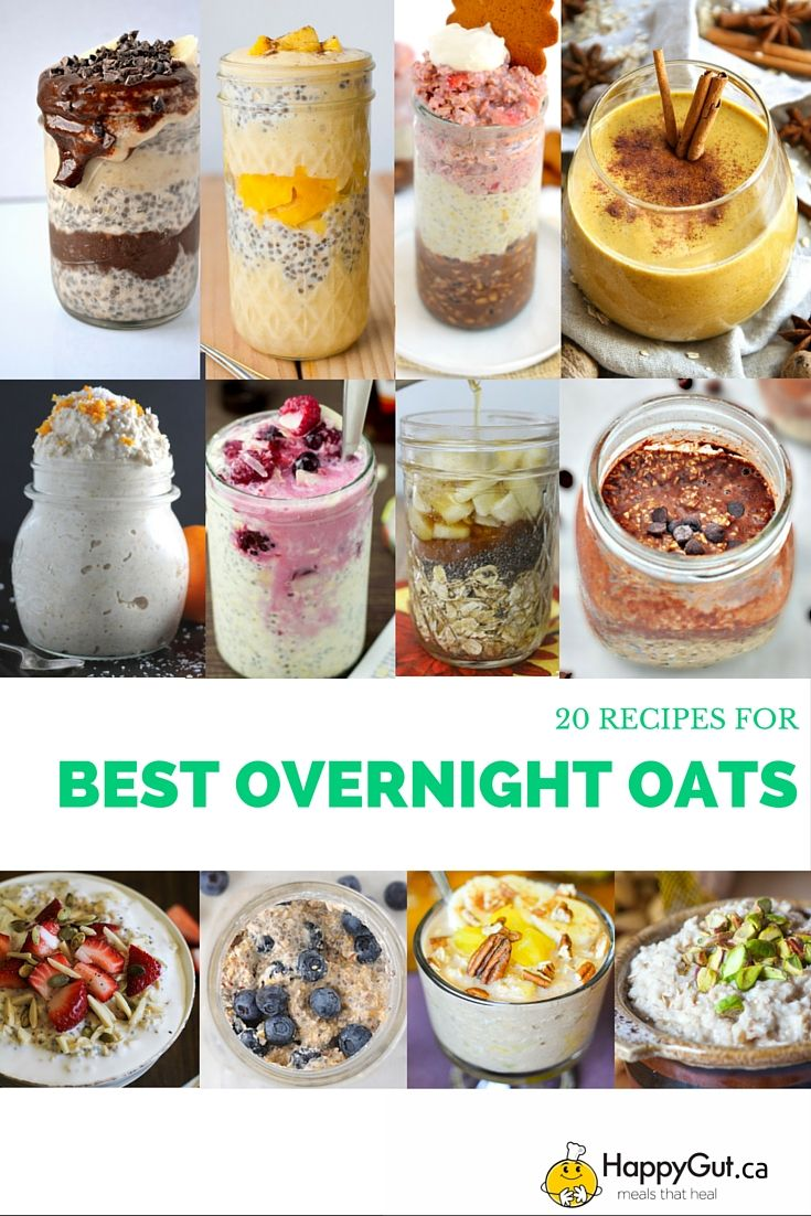 the 20 best overnight oats recipes from vegan glutenfree breakfast healthy. Black Bedroom Furniture Sets. Home Design Ideas