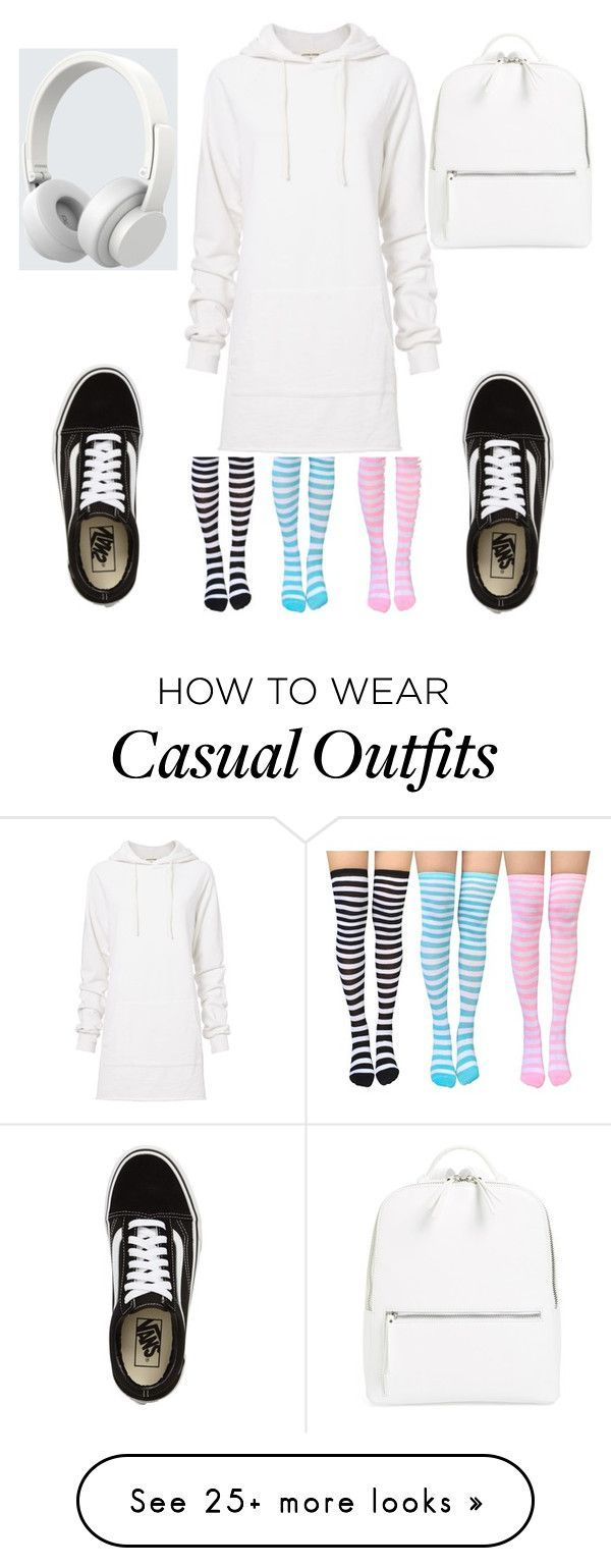 """""""Casual White Hoodie Dress"""" by shinedarkly on Polyvore featuring Cotton Citizen, Chelsea28, Vans and… - https://sorihe.com/adidas/2018/02/20/casual-white-hoodie-dress-by-shinedarkly-on-polyvore-featuring-cotton-citizen-chelsea28-vans-and/"""