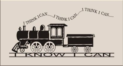 Baby Boo Decor - I think I can... I know I can, $26.75 (http://www.babyboodecor.com/i-think-i-can-i-know-i-can/) #homedecor #plaques #quotes