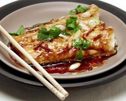 Ginger-Soy Steamed Fish from The Daily Meal