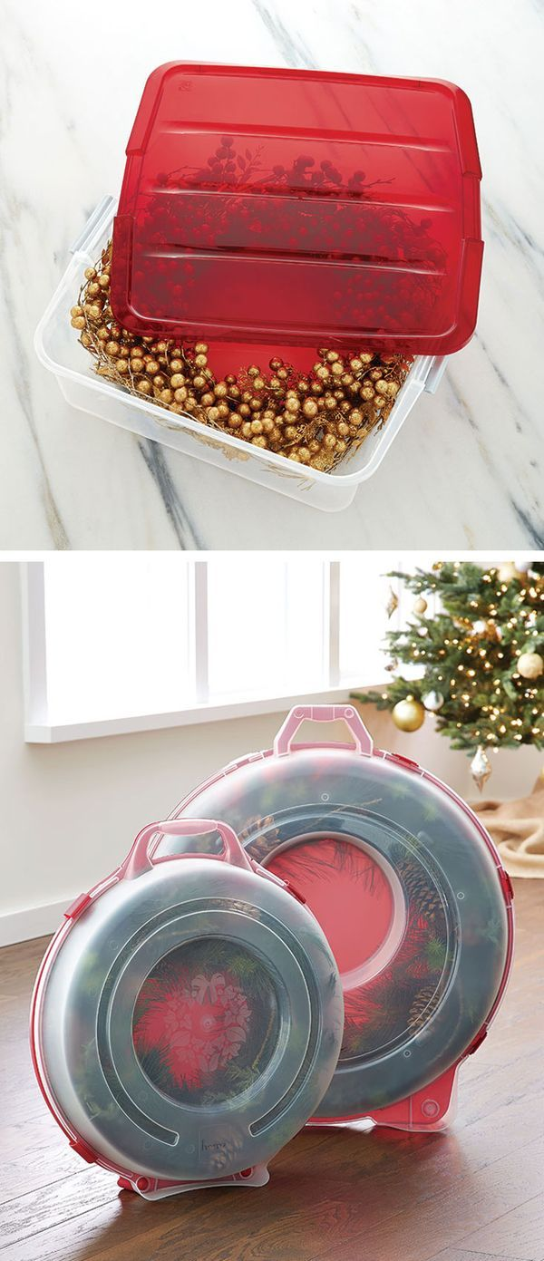 Keep your wreaths looking fresh year after year! Both our Snaplock Wreath Storage Boxes and Clear Wreath Boxes, keep wreaths from getting crushed and dusty.