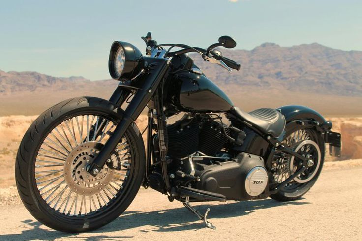 "softail slim rear suspension | 2013 Softail Slim with 23"" DNA in the works. RSD velocity intake, PCV ..."