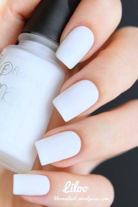 imagenes de uñas blancas