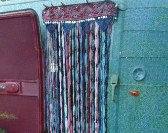 Gypsy Hippie Boho Beaded Curtain Window Door By TheSleepyArmadillo