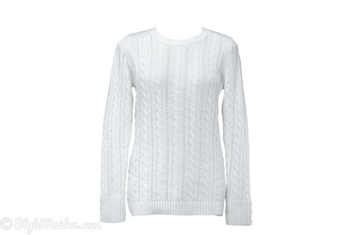 DENVER HAYES New Nordic Cream Sweater Size L at http://stylemaiden.com