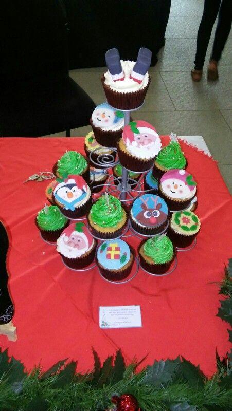 Christmas market cupcake sales