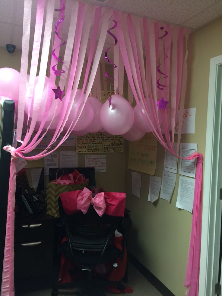 Birthday decorations for a am office cubicle