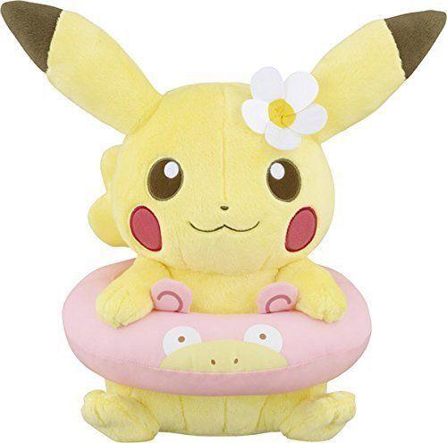 New! Pikachu & Friends HAPPY BEACH TIME Plush Doll Float Yadon Pokemon Japan F/S #Banpresto