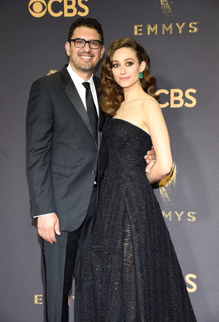 LOS ANGELES, CA - SEPTEMBER 17:  Screenwriter Sam Esmail  (L) and actor Emmy Rossum attend the 69th Annual Primetime Emmy Awards at Microsoft Theater on September 17, 2017 in Los Angeles, California.  (Photo by Kevin Mazur/WireImage) via @AOL_Lifestyle Read more: https://www.aol.com/article/entertainment/2017/09/18/milo-ventimiglia-girlfriend-kelly-egarian-emmys/23213357/?a_dgi=aolshare_pinterest#fullscreen