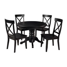 Perfect Home Styles Black Dining Set With Round Dining Table 5178 318