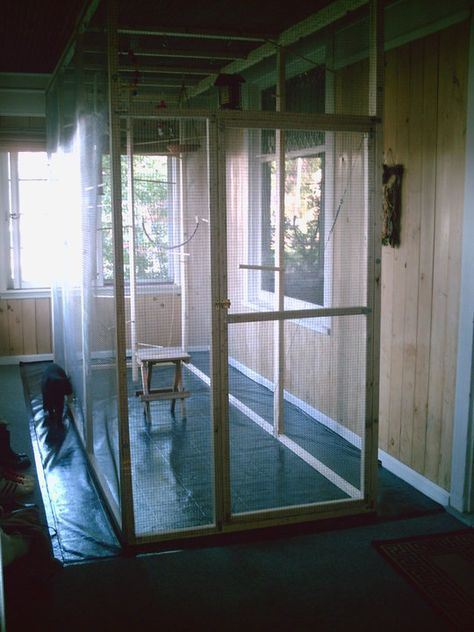 Great instructable on how to build your very own walk in indoor bird aviary. #bird #aviary #diy