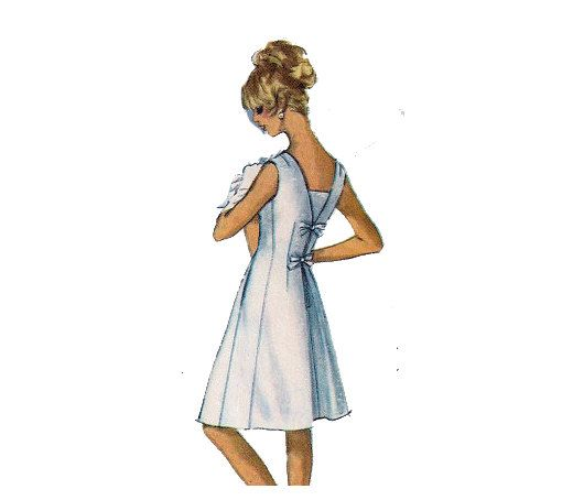 Vintage Sewing Pattern 60s Dress Pattern Back Bow by HoneymoonBus, $13.99