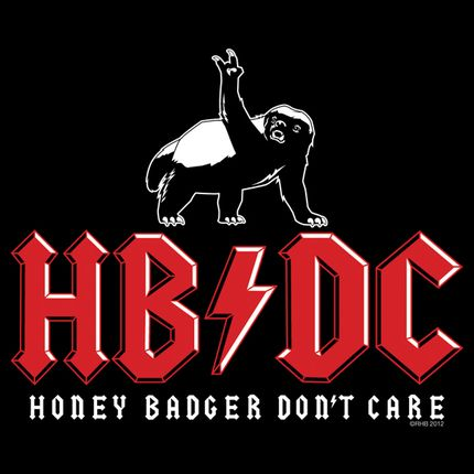 Rock out and don't care, just like Honey Badger here.