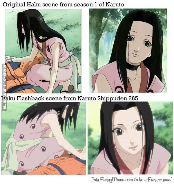 I like the Haku from season 1, this flashback Haku looks even more feminine the first one.
